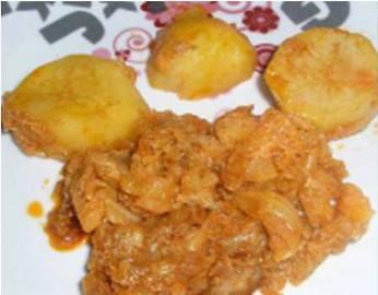 Repollo con patatas al pimentón