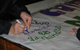 Pancarta Las Garbancitas 8 03 2014 05