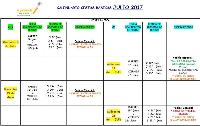 Calendario cb julio 2017
