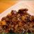 Setas shitake y cebolla caramelizada