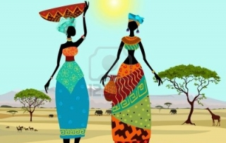 22467970-las-mujeres-africanas-en-paisaje-de-montana