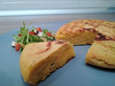 Tortilla patatata y garbanzo 02