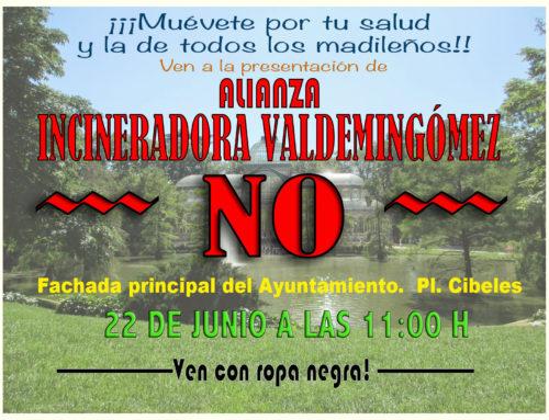 Muévete por tu salud y la de tod@s l@s madrileñ@s: ¡No a la incineración de residuos!