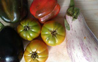 berenjens tomate pimiento