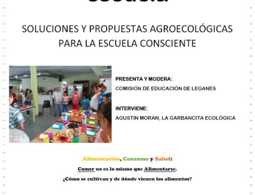 Charla-coloquio: Alimentación y Escuela. Soluciones y propuestas agroecológicas para la escuela consciente