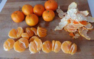 Mandarinas peladas