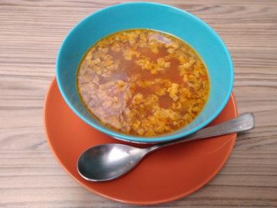 Sopa juliana con lenteja y mijo