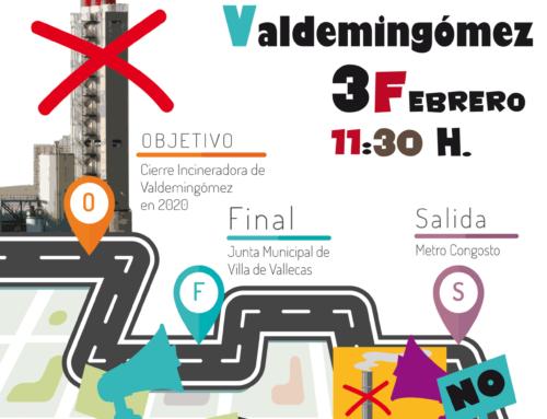 Manifestación Cierre Incineradora Valdemingómez: 3/02/2018 11:30 h