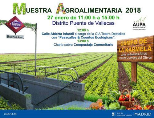 Muestra agroalimentaria en Puente de Vallecas