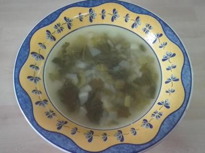 Sopa apio y nabo