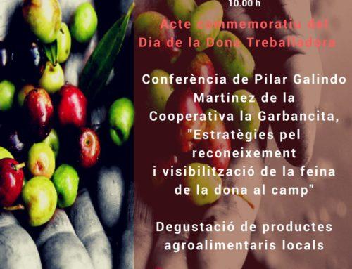 La Garbancita en el Acto conmemorativo del Día de la Mujer Trabajadora en Palma de Mallorca: 14/03/2018