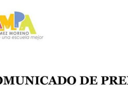 AMPA Gómez Moreno alerta de la gravedad de perder la gestión del comedor escolar