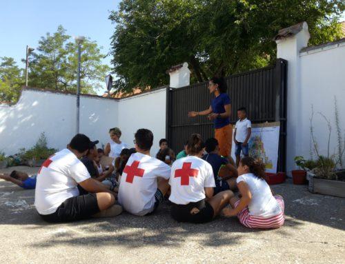 La Garbancita en el Campamento de verano de Cruz Roja en Rivas